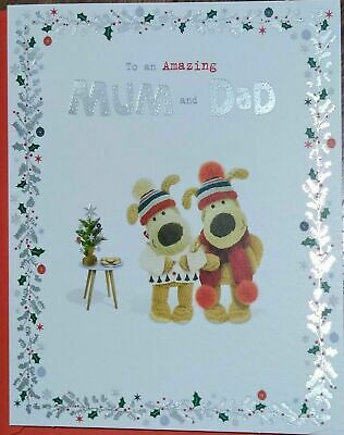 £3.95 • Buy Boofle To An Amazing Mum And Dad Glitter Christmas Card, Greeting Card, Cute