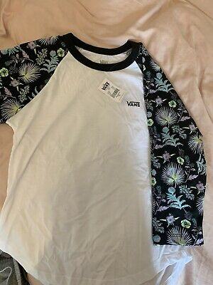 £1.60 • Buy Womens Vans Raglan Baseball Top Size M Floral NEW With Tags