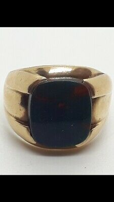 £180 • Buy 9ct Gold Bloodstone Ring Size T Hallmarked 6 Grams