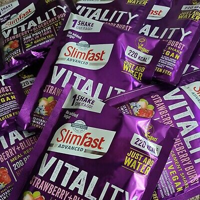 £15.99 • Buy 20 X 50g SlimFast Vitality High Protein Meal Replacement Powder BBE June 21