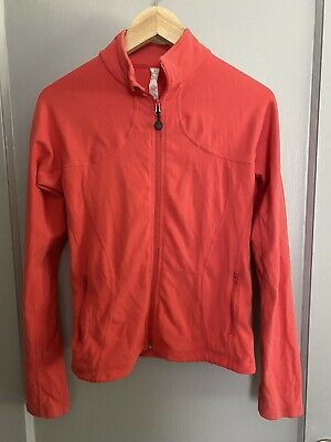 $ CDN41.54 • Buy Lululemon Womens Athletic Zip Up Fitted Jacket Solid Coral Size 8