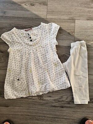 £5 • Buy Marese Summer Girls Designer 2 Piece Outfit Dress And 3/4 Leggings Age 8 Years