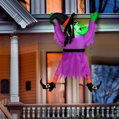 $ CDN50.03 • Buy 60  Lighted Inflatable Hanging Gutter Witch Outdoor Halloween Yard Decoration