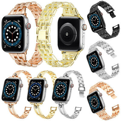 $ CDN4.77 • Buy Metal Strap For Apple Watch Series 6 5 4 3 2 38-44mm Stainless Steel IWatch Band
