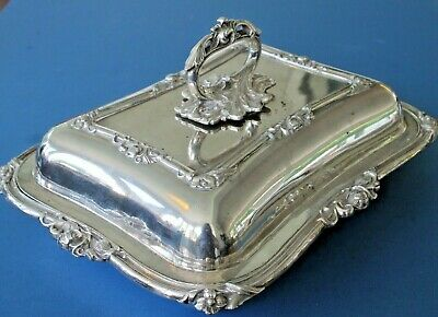 £29.99 • Buy Antique Victorian Large Silver Plated Serving Entree Vegetable Dish