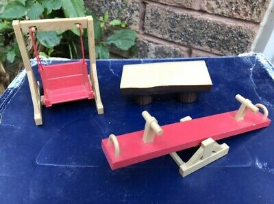 £15 • Buy Vintage Sylvanian Familes Playground Swing Seesaw And Log Bench