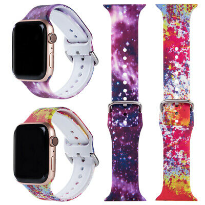 $ CDN7.43 • Buy  For Apple IWatch Series 1 2 3 4 5 6 38/40mm 44mm Soft Silicone Strap Watch Band