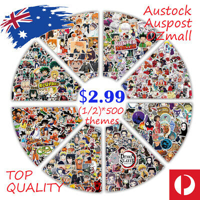 AU5.95 • Buy 300 Various Anime/ Kids Cartoon/ TV Show/ Ins-Style Stickers Decal Waterproof