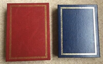 £4.99 • Buy Two Photo Photograph Album 6 By 4 Slip In Blue Red Traditional Look