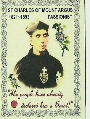 £1.95 • Buy  Laminated Prayer Book Relic Card: St Charles Of Mount Argus ~ Passionist 1893