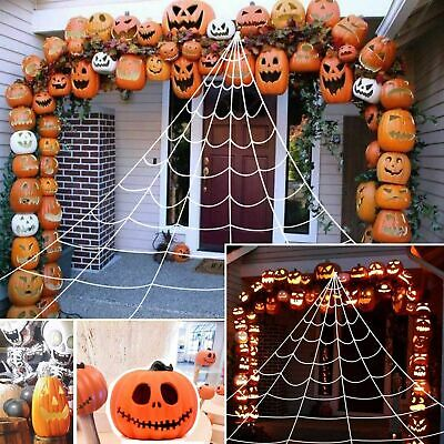 $ CDN28.08 • Buy Giant Spider Web Halloween Decoration Outdoor Party Yard White Triangle Net