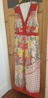 £8.50 • Buy JOHN ROCHA Floral And Beaded Dress Size 20 Worn Once For Wedding