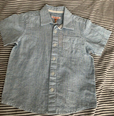 £0.99 • Buy BNWT Blue Zoo Boys Shirt 2-3 Years Blue And White Stripes Linen