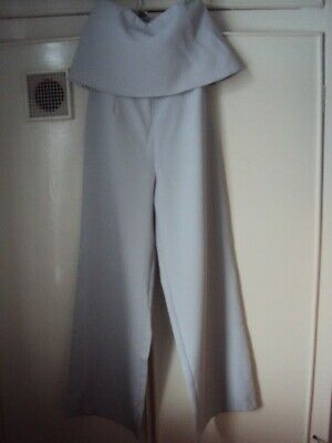 £7 • Buy Missguided Jump Suit Size 10, Grey, Wide Legs, Foot Opening 24ins