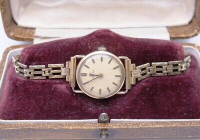 £51 • Buy LADIES 9ct GOLD CASED OMEGA WATCH WITH ROLLED GOLD BRACELET STRAP + VINTAGE BOX