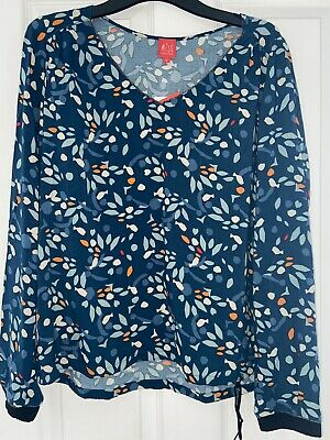 £14.99 • Buy Miss Captain Tortue Blue Printed Blouse Size 8-10 BNWT