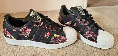 AU28.35 • Buy Womens Adidas Superstar Black White Leopard Trainers Size 7