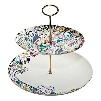 £32.50 • Buy Denby Cosmic Monsoon Tiered Cake Stand Boxed