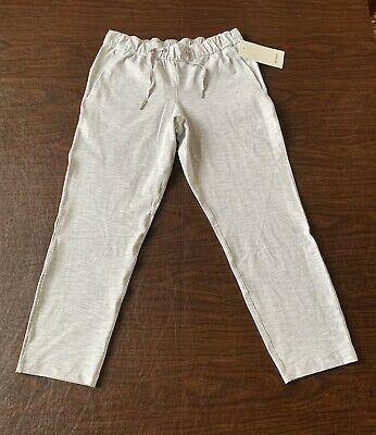 $ CDN99.86 • Buy LULULEMON On The Fly Crop Pant Gray White Stripes Womens Size 10 NWT