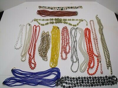 $ CDN15.74 • Buy Vintage Costume Jewelry Lot Pre-Owned, All Neckless Items