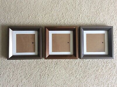 £9 • Buy Next, Set Of 3 Square Photo Frames, Outer Frame Size 15.5cm X 15.5cm, In Vgc
