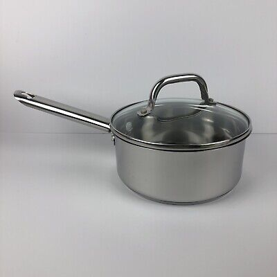 $ CDN43.87 • Buy Wolfgang Puck Cafe Collection 2 Qt Quart Stainless Sauce Pan With Lid