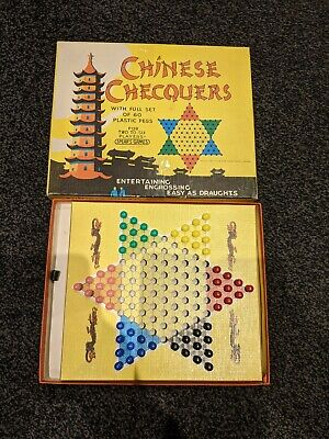 £6.75 • Buy Spears Vintage Chinese Chequers Complete Game 1960s.