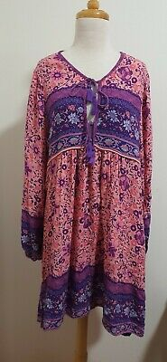 AU400 • Buy SPELL & THE GYPSY Folktown Playdress In Blossom, Size XL *Altered From Boho*