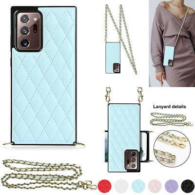 $ CDN6.21 • Buy Soft Leather Case Crossbody Lanyard Cover For Samsung Galaxy Note20 Ultra 10+ 9