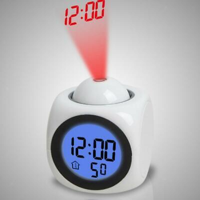 £10.12 • Buy Multi-Function Snooze Led Alarm Projector Voice Report Wall Projection Clock