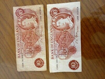 £2.99 • Buy Two Bank Of England Ten Shilling Notes