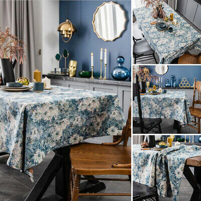 AU13.92 • Buy Jacquard Oil Painting Tablecloth Cotton Table Cloth Cover Dining Kitchen Decor