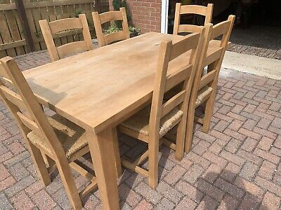 £150 • Buy Solid Beech Dining Table And 6 Chairs