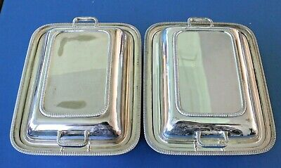 £39.99 • Buy Vintage Silver Plated Pair Of Serving Entree Dishes
