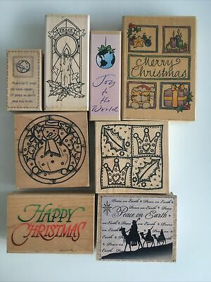 £5 • Buy Christmas Wooden Craft Stamps
