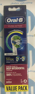 AU16.98 • Buy Oral B Toothbrush Heads Floss Action Clean Maximiser 4 Pack *nee* #