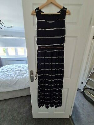 £1.30 • Buy Marks And Spencer Autograph Womens Maxi Dress, Navy And White, Size 10