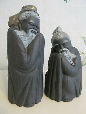 £70 • Buy Lladro Chinese Monks Immortal Porcelain Figurines Grey - A Pair - Very Rare