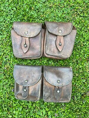 £25 • Buy Ww2  Double Leather Ammo Pouches X2 Original French.£25.00