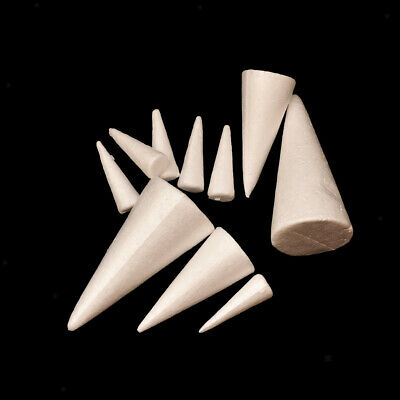 £3.31 • Buy 10x White Cone Polystyrene Foam Crafts Arts Christmas Party Decoration
