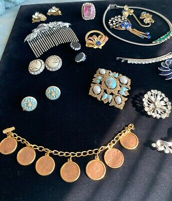 $ CDN12.58 • Buy Lot Of Vintage Jewelry Coro Sarah Coventry Avon Iskin Givenchy & Unsigned