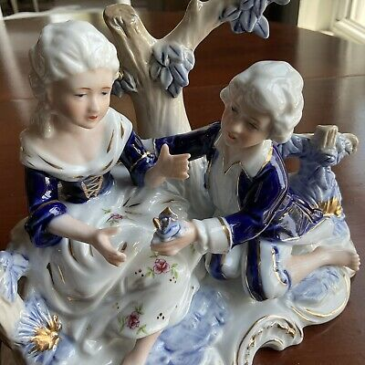 $ CDN30.21 • Buy KPM Germany  Porcelain Figurine Couple In The Garden VINTAGE Excellent Cond. ⭐️