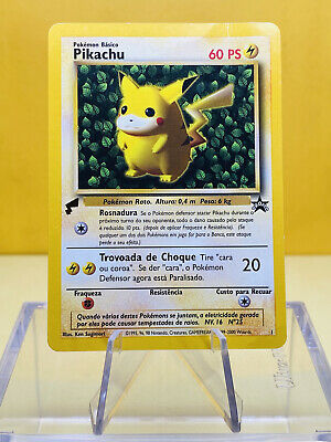 $6.99 • Buy Portugese Pikachu 2000 Pokemon World Collection Promo #1 W/ Foil Gold Tail HP
