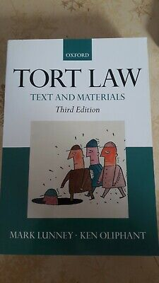 £1 • Buy Tort Law: Text And Materials By Mark Lunney, Ken Oliphant (Paperback, 2008)