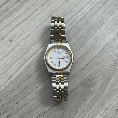 £49.98 • Buy Seiko Quartz  Silver&Gold Plated Ladies Watch 7N83-0191 -  New Battery & Working