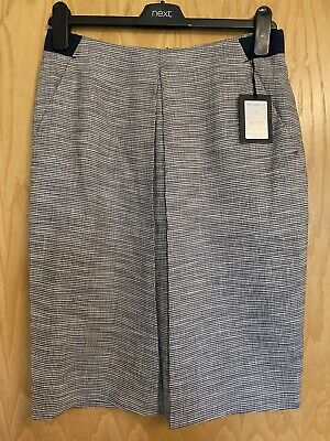 £1.04 • Buy JAEGER Ladies Navy Blue & White Tweed Pencil Skirt, Size 10 - New With Tags £150