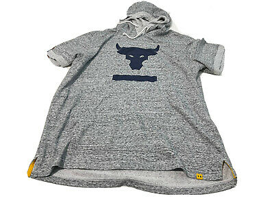 $ CDN33.99 • Buy Under Armour Men's XL Project Rock Charged Cotton Short Sleeve Hoodie