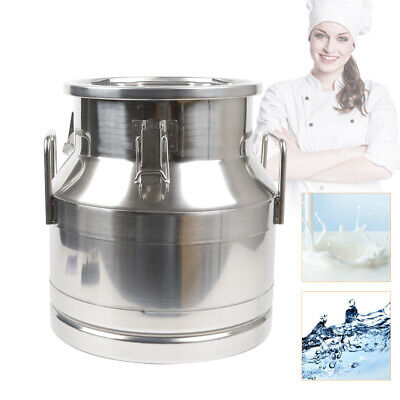 $70.02 • Buy 12L Stainless Steel Milk Can/Liquid Storeage Container Embedded Silicon Superior