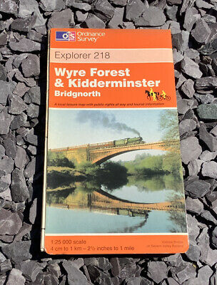 £4.99 • Buy OS Explorer Map 218 Wyre Forest Kidderminster Bridgnorth Hiking Cycling Riding