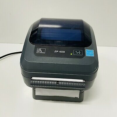 AU67.56 • Buy Zebra ZP450 Thermal Shipping Label Printer W/ Cable FOR PARTS OR REPAIR
